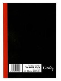 Croxley JD162 3-Quire 288 Page A4 F&M Counter Book (5 Pack)