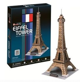 Cubic Fun Eiffel Tower France - 35 Piece 3D Puzzle