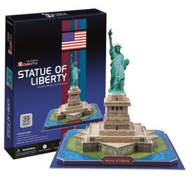 Cubic Fun Statue of Liberty USA - 39 Piece 3D Puzzle