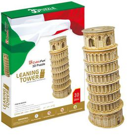 Cubic Fun Leaning Tower of Pisa Italy - 30 Piece 3D Puzzle