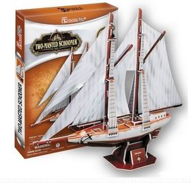 Cubic Fun Two Masted Schooner - 81 Pieces 3D Puzzle