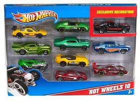 Hot Wheels 10 Pack Cars Hot Wheels 10 Pack Cars Pack Up *Assortment *Colours and Styles may vary*