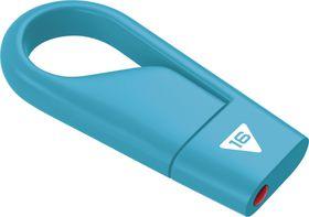 Emtec D200 Hook USB 2.0 Flash Drive 16GB - Blue