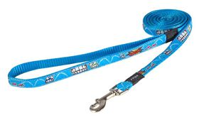 Rogz Fancy Dress Small 11mm Jellybean Fixed Dog Lead - Comic Design