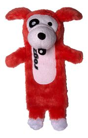 Rogz Thinz Plush Small Dog Toy Red -200mm