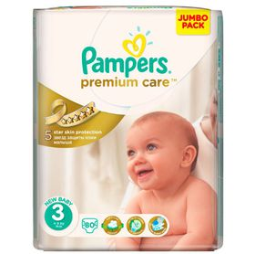 Pampers - Premium Care Nappies - Size 3 - Jumbo Pack