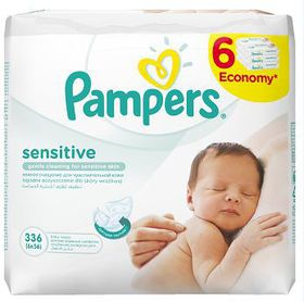 Pampers - Baby Wipes Sensitive 6X56