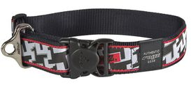 Rogz - Fancy Dress 2 x Extra-Large 4cm Special Agent Dog Collar - Hounds Tooth Design
