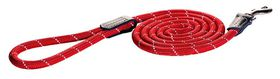 Rogz - 6mm 1.8m Long Fixed Dog Rope Lead - Red Reflective