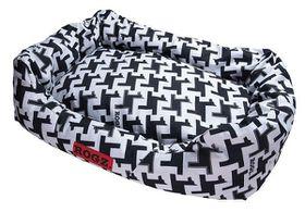 Rogz Spice Pod 72cm x 45cm x 25cm Medium Cushion Bed - Hound Dog Design
