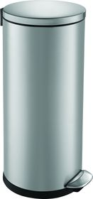 Eko Luna Round Step Bin, Brushed Stainless Steel - 30 Litre