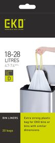 Eko - Type D 20 Bags On A Roll - 18 To 28 Litre