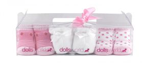 Dolls world Baby Socks For Doll - 3 pairs