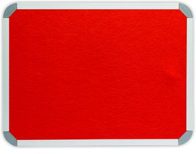 Parrot Info Board Aluminium Frame - Burnt Orange Felt (900 x 600mm)
