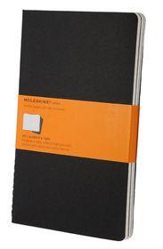 Moleskine Set of 3 Ruled Cahier Journals - Black - Large