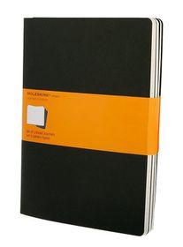 Moleskine Set of 3 Ruled Cahier Journals - Black - Extra Large