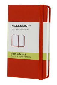 Moleskine Classic Red Extra Small Plain Hard Notebook
