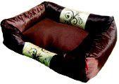 Dog's Life - Waterproof Modern Swirl Summer Bed Brown - Medium