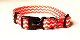 Dog's Life - Pooch Webbing Collar - Chevron - Large