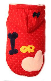 Dog's Life - Bone Or Love Hoodie Red - 3 x Extra-Large