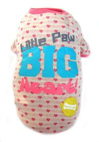 Dog's Life - Little Paws Summer Tee Pink - Extra-Small