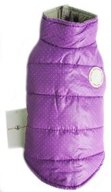 Dog's Life - Polka Dot Parka Turtle Neck Purple - Extra Small
