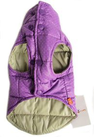 Dog's Life - Polka Dot Parka Turtle Neck - Purple - 2 x Extra-Large