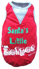 Dog's Life - Santa's Little Helper Tee - Red - 2 x Extra-Small