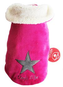 Dog's Life - Star Cape Jacket Pink - 5XL
