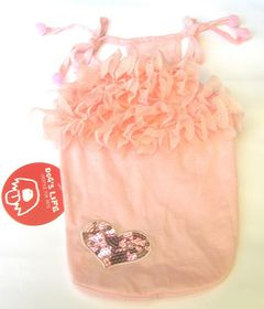 Dog's Life - Frilly Summer Dress - Pink - Extra Small