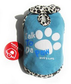 Dog's Life - Talk 2 Paw Tee - Blue - Extra-Small
