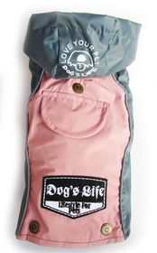 Dog's Life - Winter Rain Coat - Pink - 4 x Extra-Large
