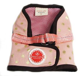 Dog's Life - Polka Dot Harness Vest - Pink - Medium