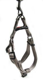 Dog's Life - Reflective Supersoft Webbing Harness - Grey - Small
