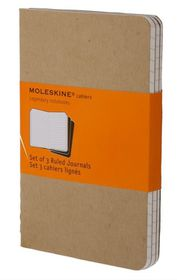 Moleskine Set of 3 Ruled Cahier Journals - Kraft Brown - Large