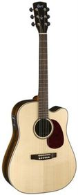 Cort MR710F NS Acoustic Electric Guitar, Solid Top - Natural Satin (Left Handed)