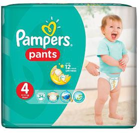 Pampers - Active Baby Nappy Pants - Size 4 - Carry Pack (24 count)