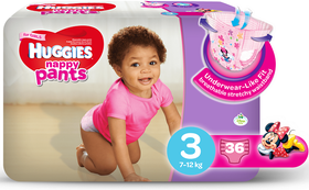 Huggies - Nappy Pants Girl - 36 - Size 3