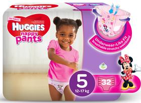 Huggies - Nappy Pants Girl - 32 - Size 5