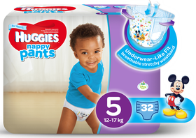 Huggies - Nappy Pants Boy - 32 - Size 5