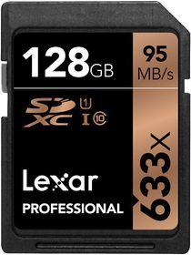 Lexar 128GB Professional 633x SDHC Card