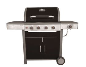 Alva - Gloss Enamel Burner Gas Grill with Side Burner