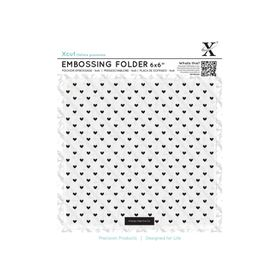 Xcut 6X6 Embossing Folder - Small Polka Hearts