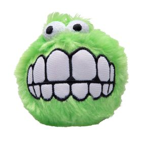 Rogz Fluffy Grinz Medium 6.5cm Dog Plush Squeak Toy - Lime