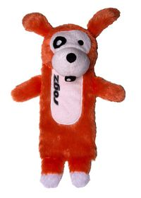 Rogz Thinz Medium 26cm Plush Refillable Squeak Dog Toy - Orange