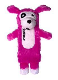 Rogz Thinz Medium 26cm Plush Refillable Squeak Dog Toy - Pink