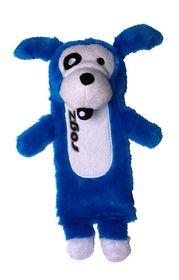 Rogz Thinz Large 33cm Plush Refillable Squeak Dog Toy - Blue