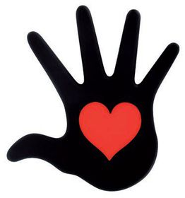 Pylones Heart In Hand Black Trivet