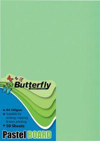 Butterfly A4 Pastel Board 50s - Green