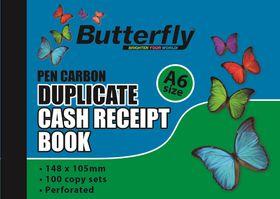 Butterfly A6 Duplicate Book - Cash Receipt 200 Sheets